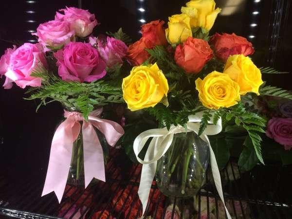 a dozen roses at Bloom Woodstock